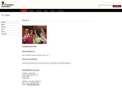 Tumba Dance Website 2003